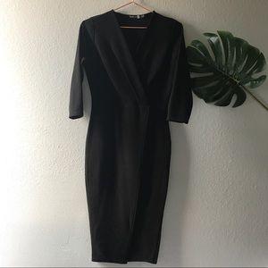 Black Boohoo v-neck dress
